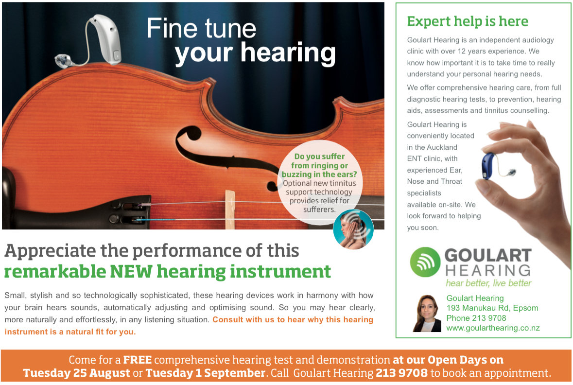 Oticon - Fine Tune Your Hearing Ad - August:September 2015 - Part 1
